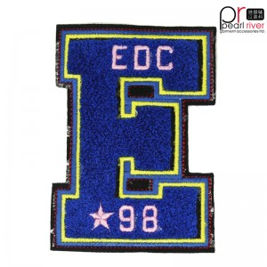 Latest Letter EDC Embroidered Patch Hohe Qualität